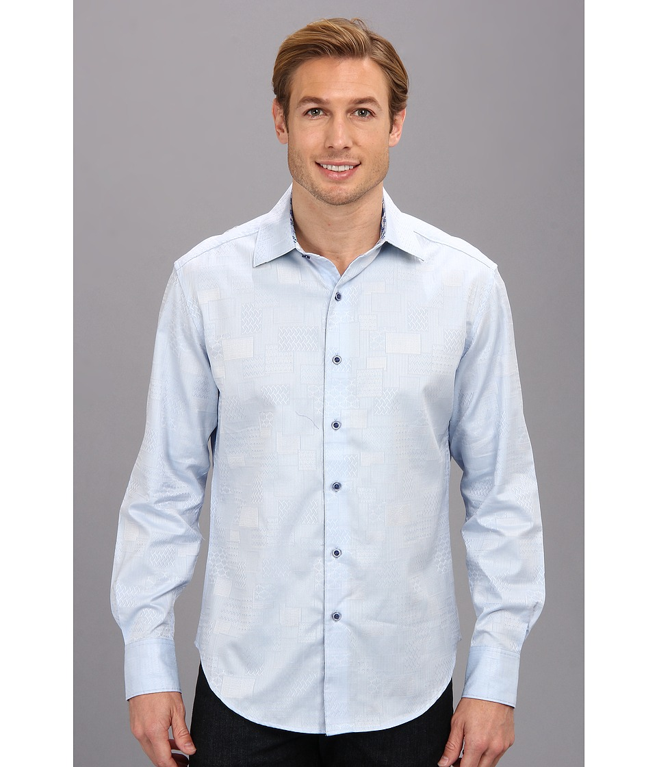 Robert Graham - Luciano Tailored L/S Woven Shirt (French Blue) Men's Long Sleeve Button Up