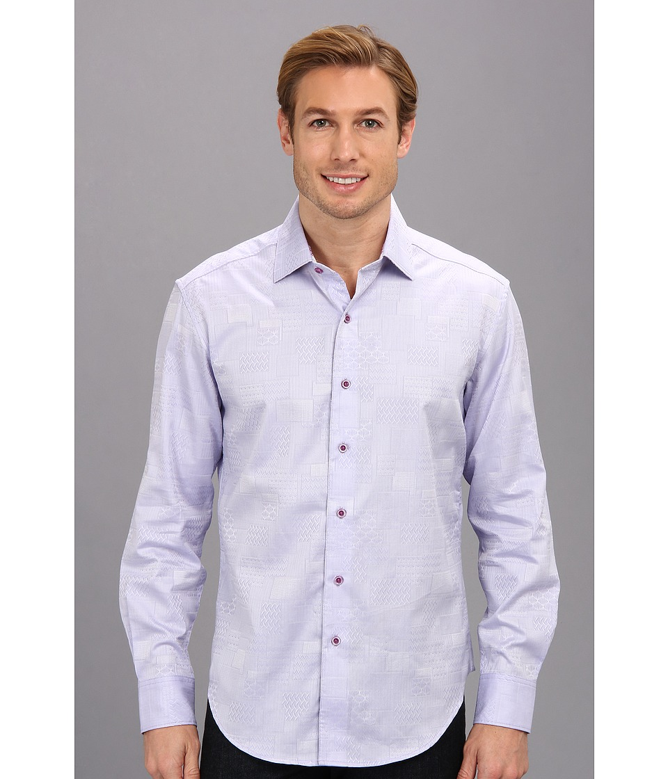 Robert Graham - Luciano Tailored L/S Woven Shirt (Lavender) Men's Long Sleeve Button Up