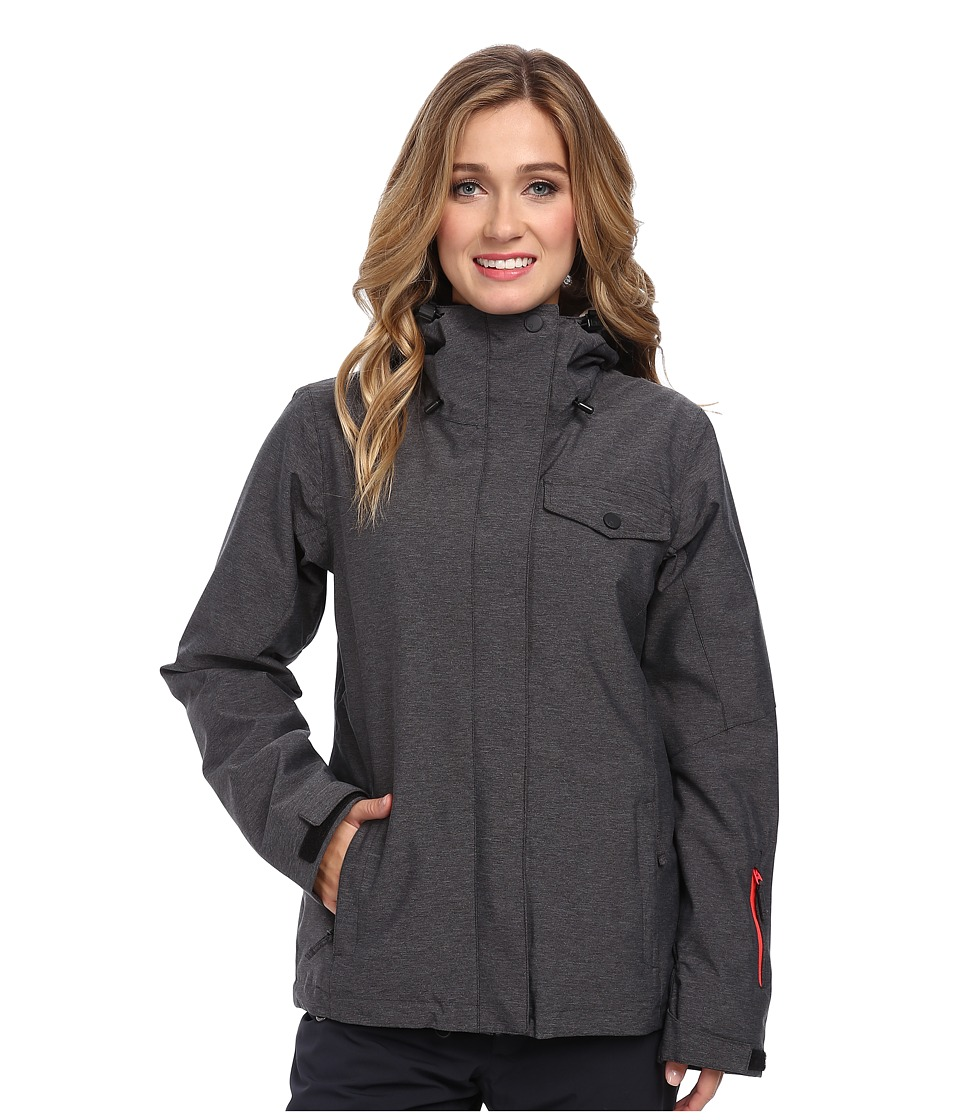 Roxy - Jetty System Jacket (Anthracite) Women's Coat