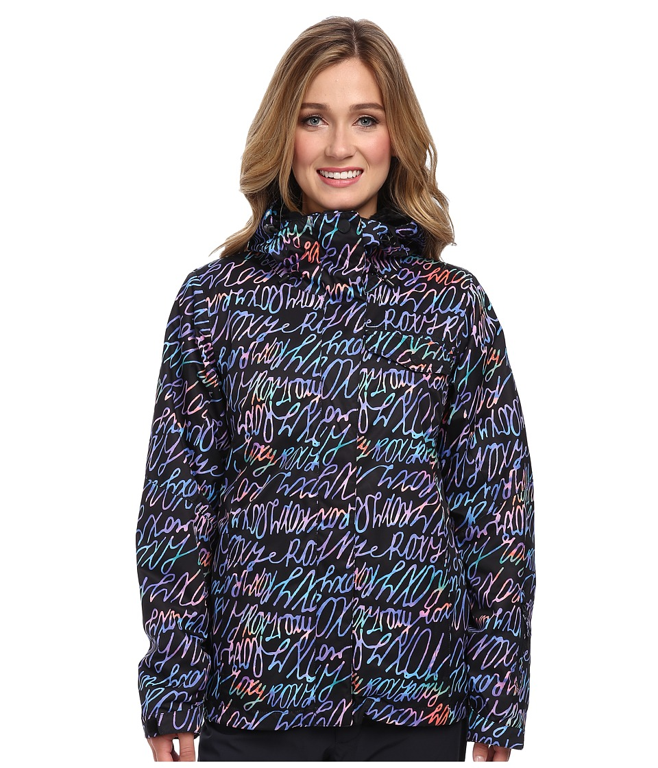 Roxy - Jetty System Jacket (Anthracite Plaid 2) Women's Coat