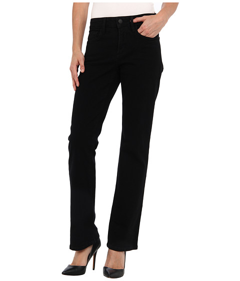 NYDJ Petite - Petite Barbara Bootcut Sueded Denim (Black) Women