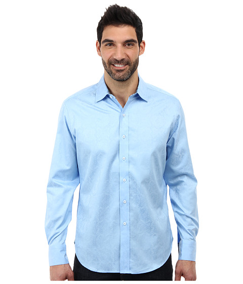 Robert Graham - Salisbury L/S Woven (Light Blue) Men's Long Sleeve Button Up
