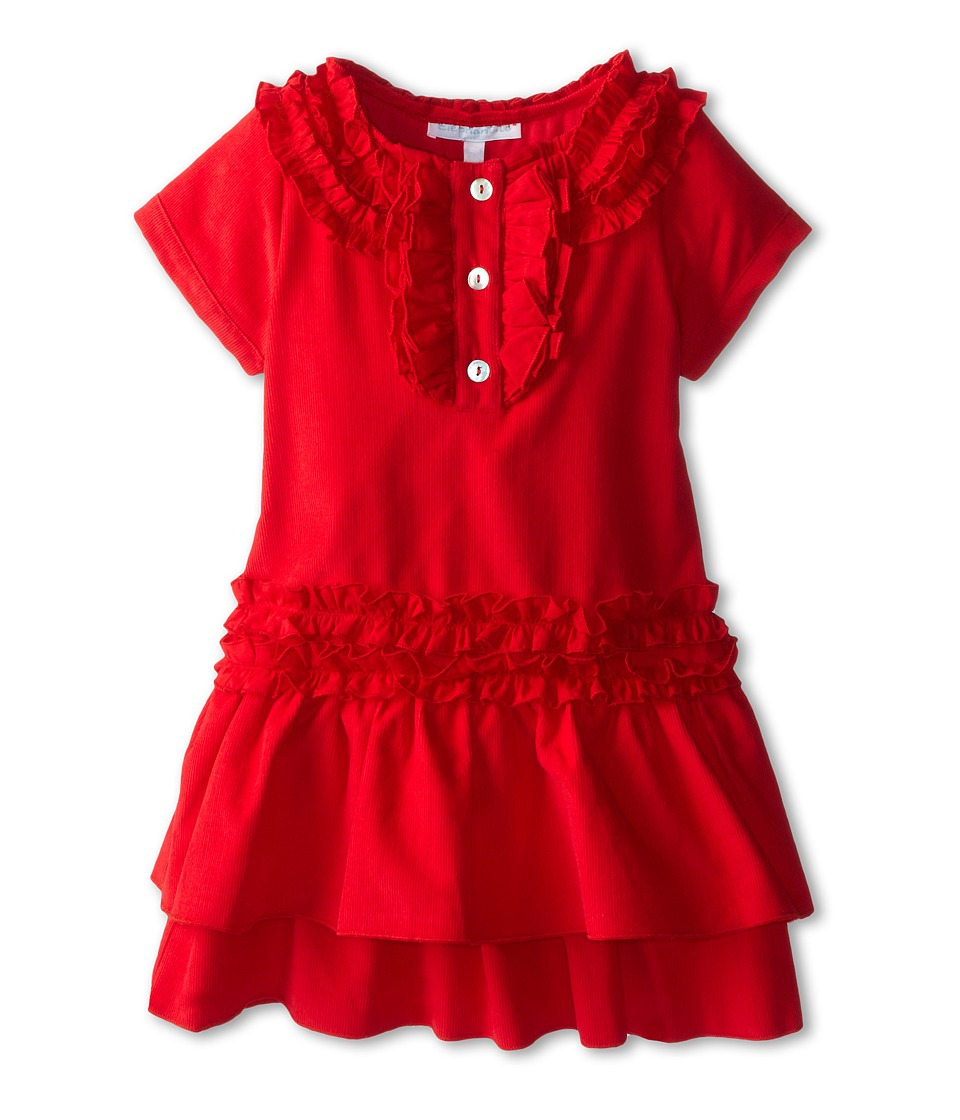 Elephantito - Party Corduroy Dress w/ Ruffles (Toddler/Little Kids/Big Kids) (Red) Girl's Dress