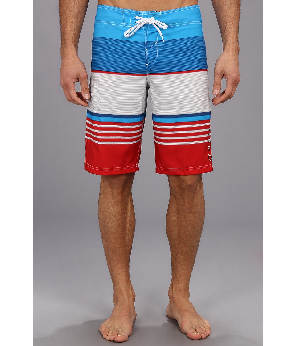 O'Neill - Superfreak Heist Boardshort (Red/White/Blue) Men's Swimwear