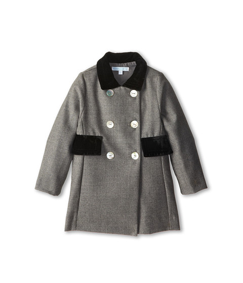 Elephantito - Wool Grey Coat (Toddler/Little Kids) (Grey) Girl
