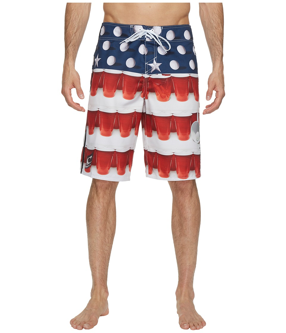 O'Neill - Murca Boardshort (Red) Men's Swimwear
