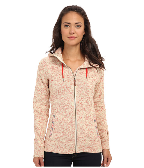Roxy - Doe Fleece Hoodie (Beige Orange) Women