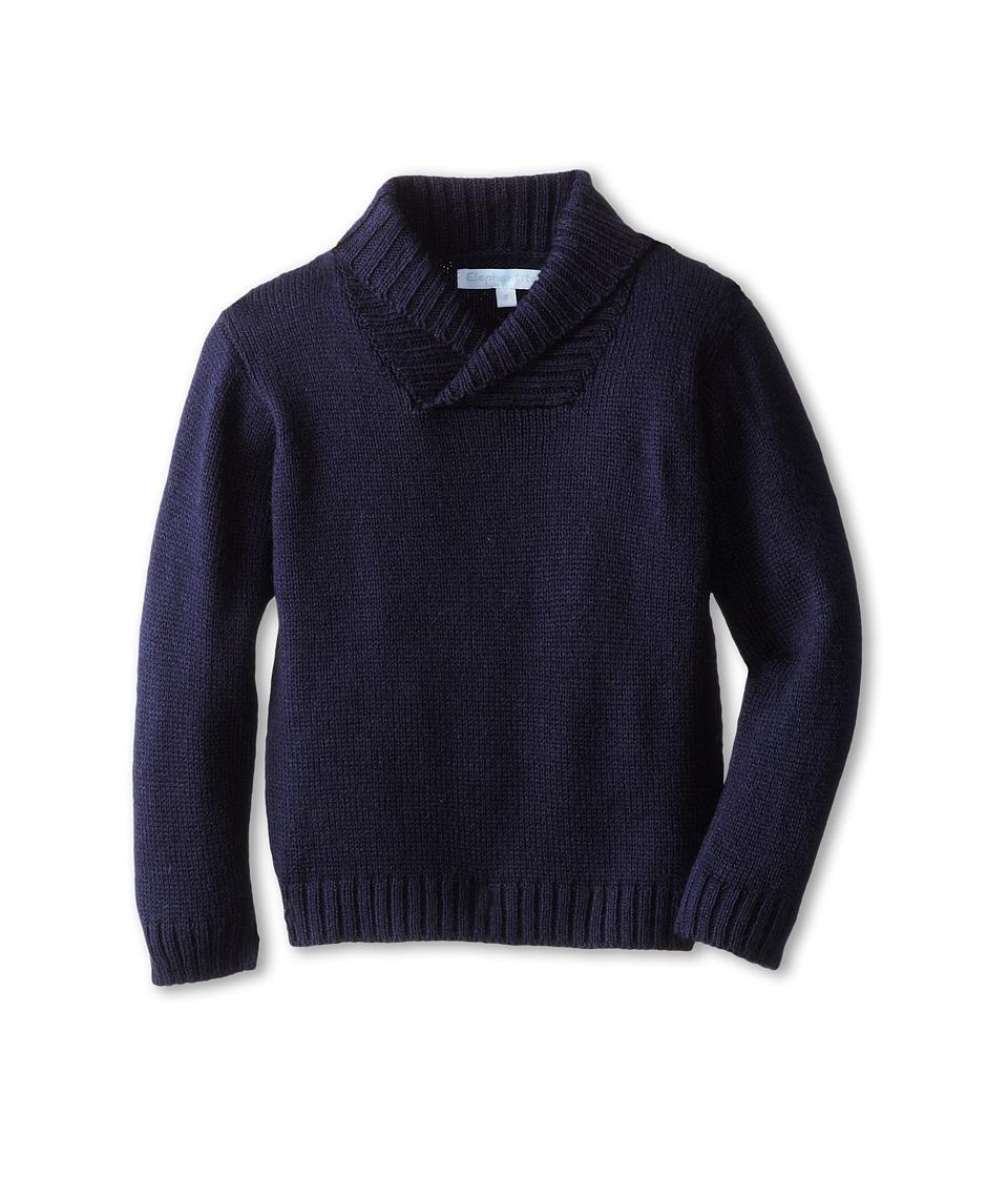 Elephantito - Crossed Collar Sweater (Toddler/Little Kids) (Navy) Girl