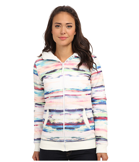 Roxy - Canopy Fleece Hoodie (Bright White Stripe) Women