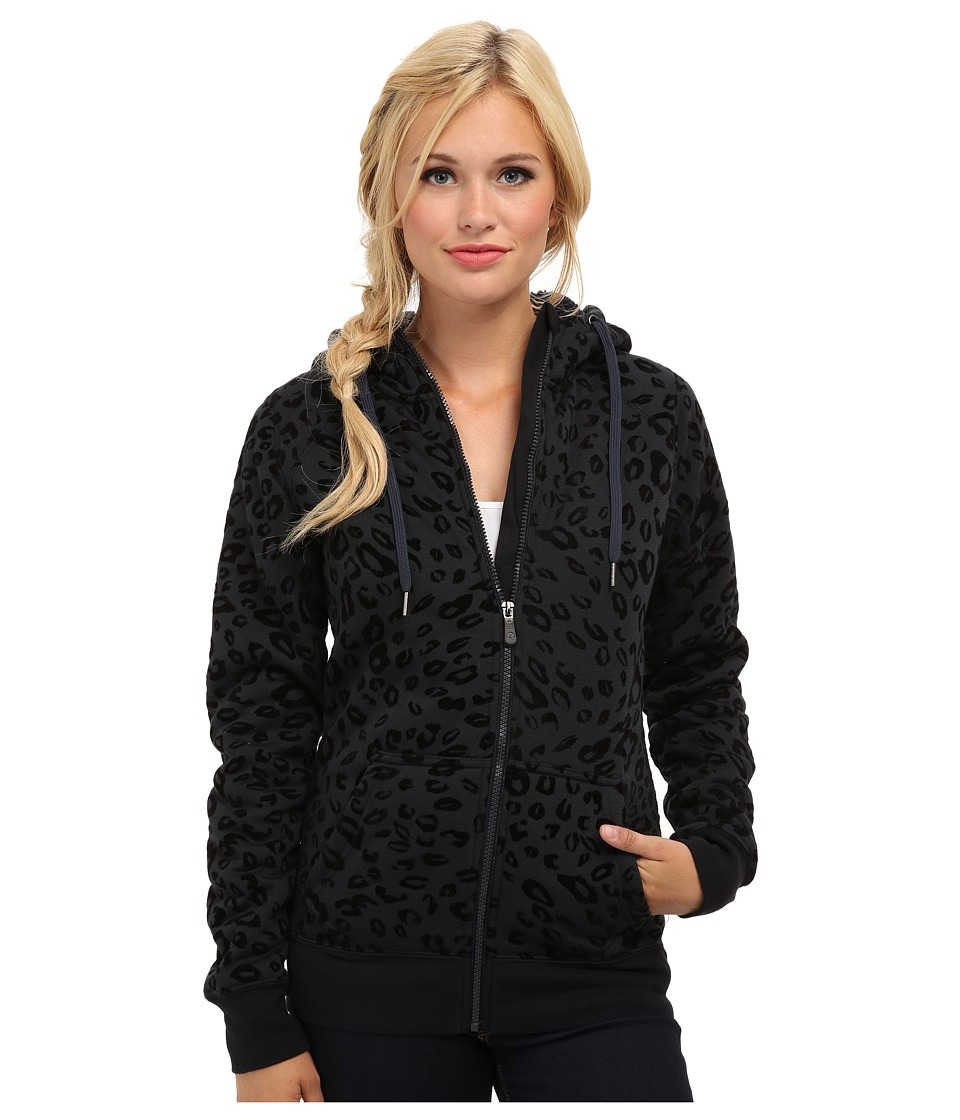 Roxy - Resin Fleece Hoodie (Anthracite) Women