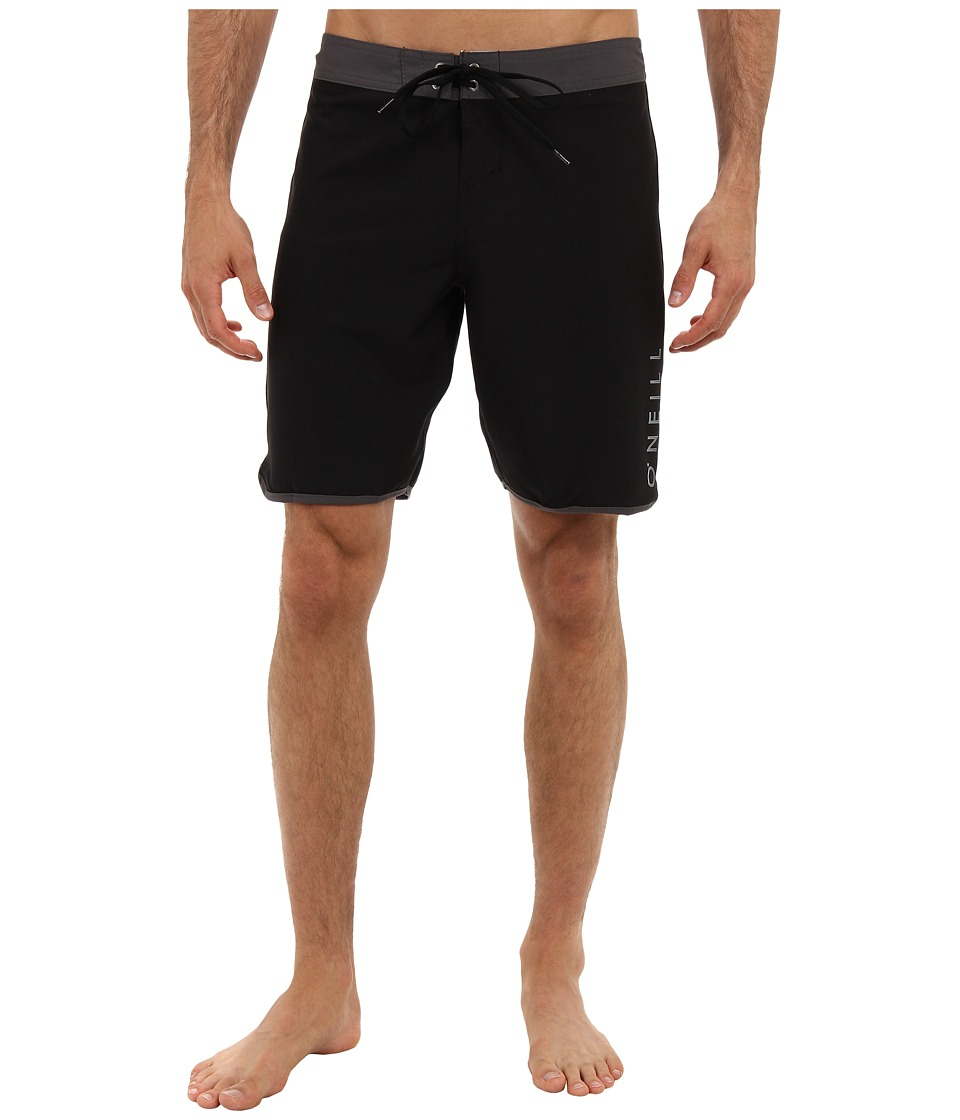 O'Neill - Superfreak Santa Cruz Scallop Boardshort (Black) Men's Swimwear