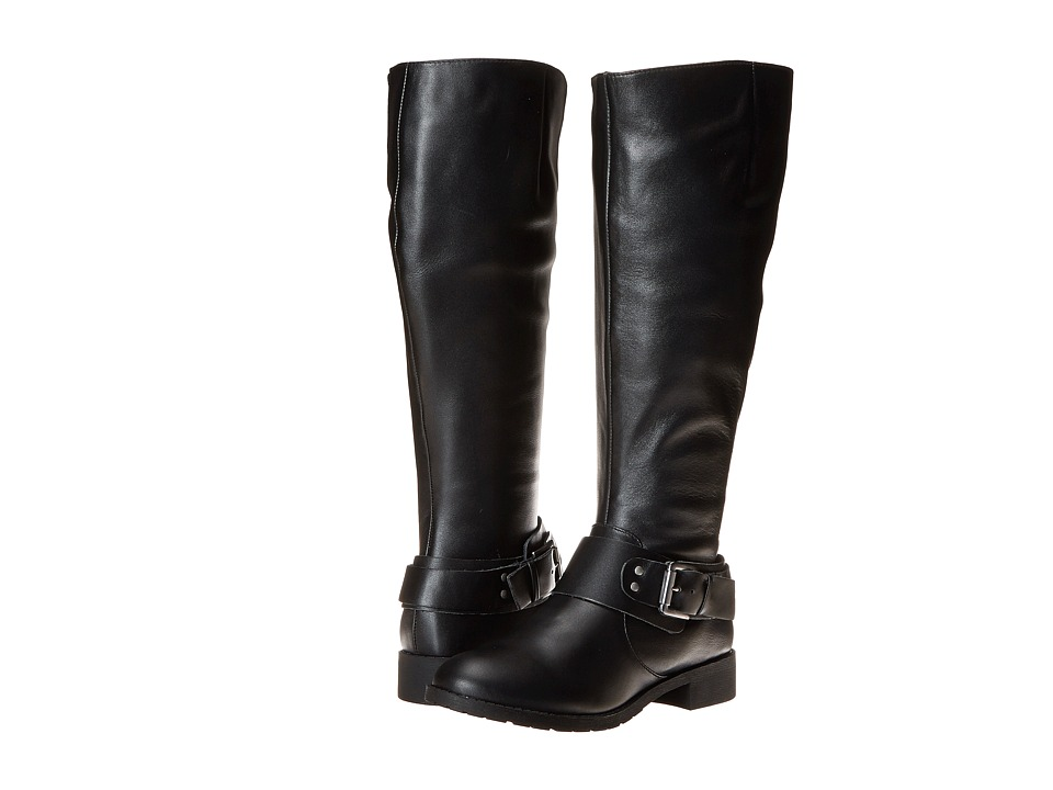 Fitzwell - Peggy Wide Calf (Black Leather) Women's Wide Shaft Boots