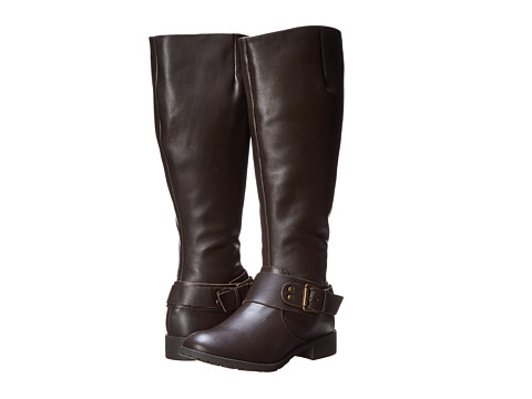 Fitzwell - Peggy Wide Calf (Brown Leather) Women's Wide Shaft Boots