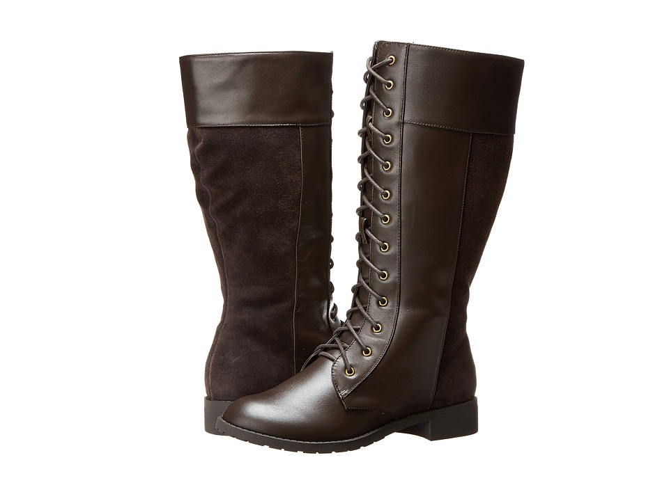 Fitzwell - Nessie Wide Calf (Brown Leather) Women's Wide Shaft Boots