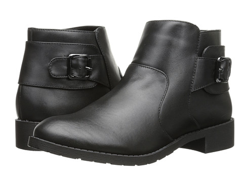 Fitzwell - Savannah Ankle Boot (Black Leather) Women's Zip Boots