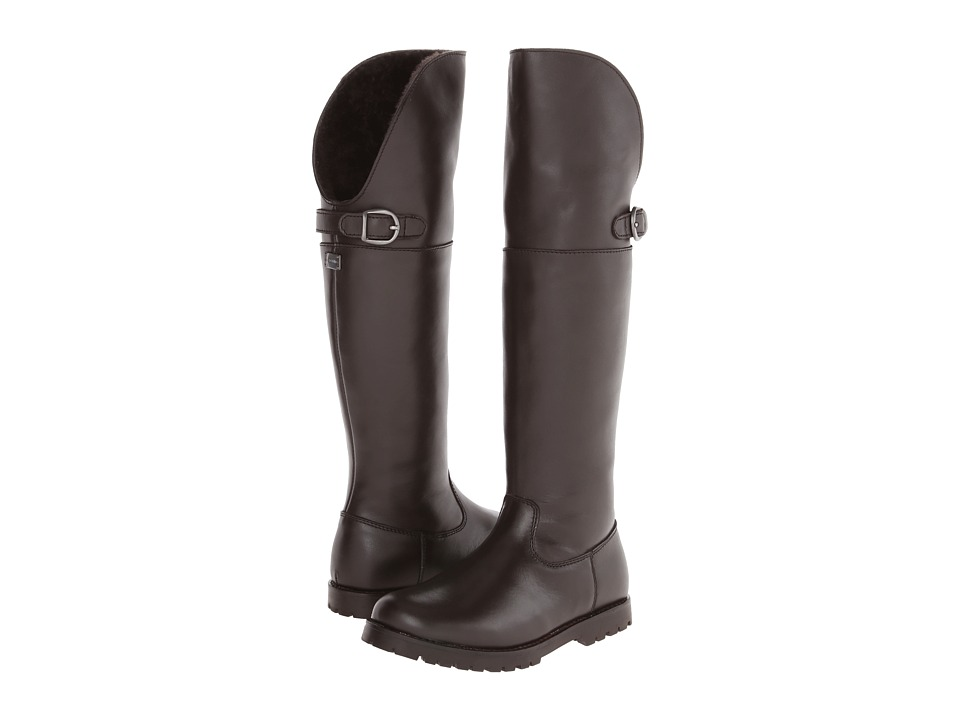 Dolce & Gabbana - Tall Boot w/ Buckle (Little Kid) (Dark Brown) Women