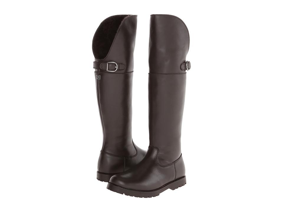 Dolce & Gabbana - Tall Boot w/ Buckle (Little Kid) (Dark Brown) Women's Boots