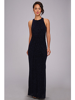 SALE! $104.99 - Save $220 on Laundry by Shelli Segal Twist Front Racerback Glitzy Gown (Eclipse) Apparel - 67.70% OFF $325.00