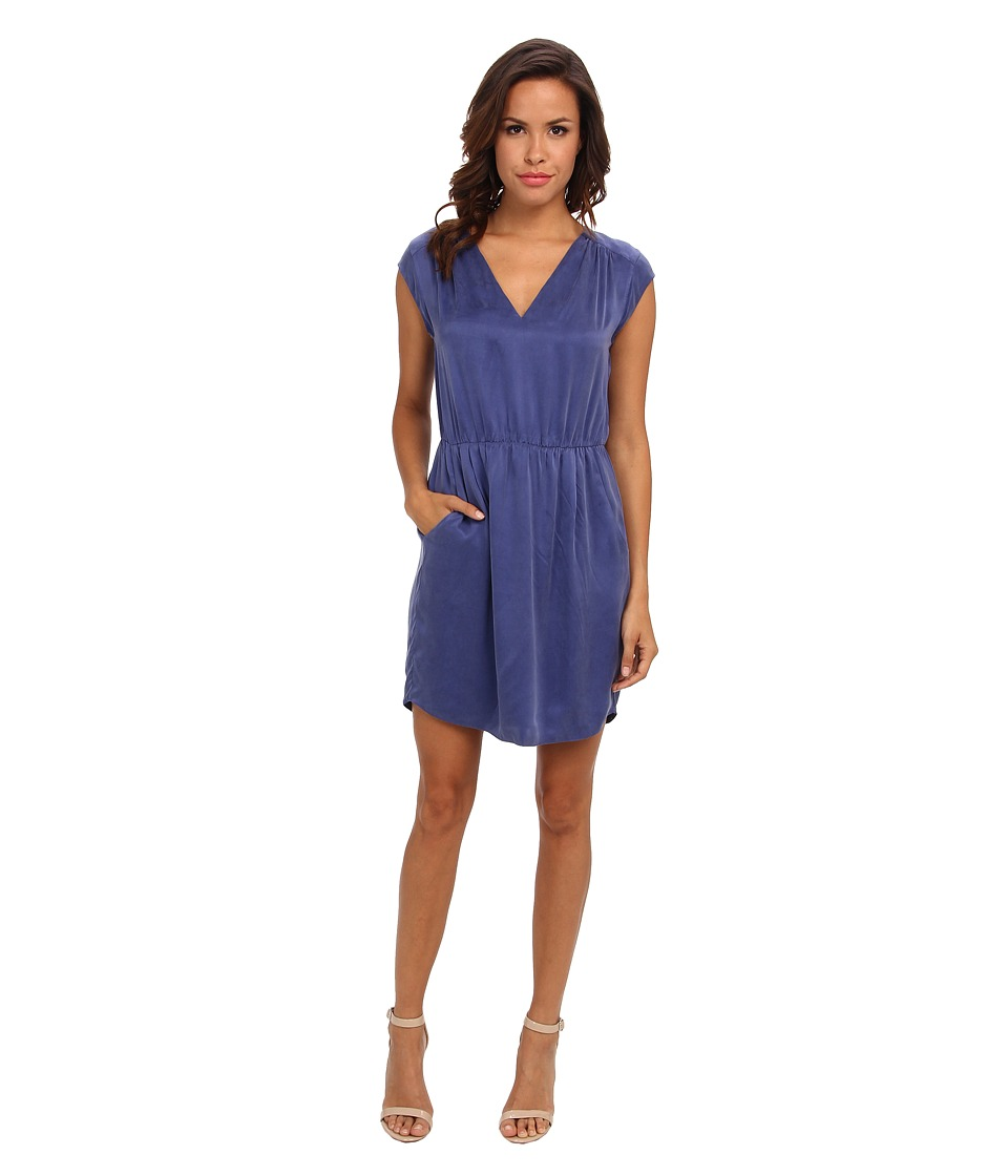 Rebecca Taylor - Sleeveless Waisted Dress (Cobalt/Cobalt/Academy) Women's Dress