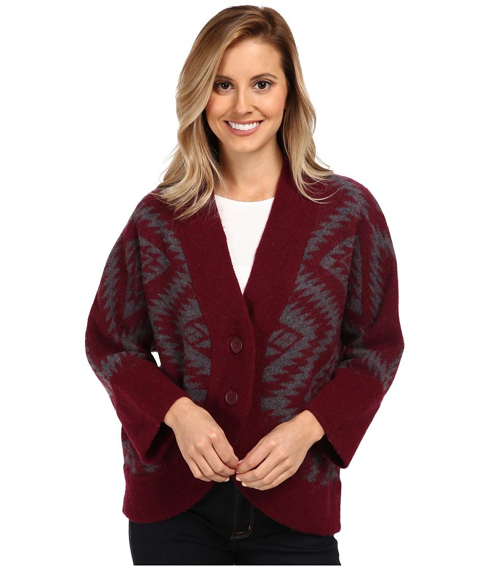 Toad&Co - Merino Shinzo Cardigan (Port) Women's Sweater