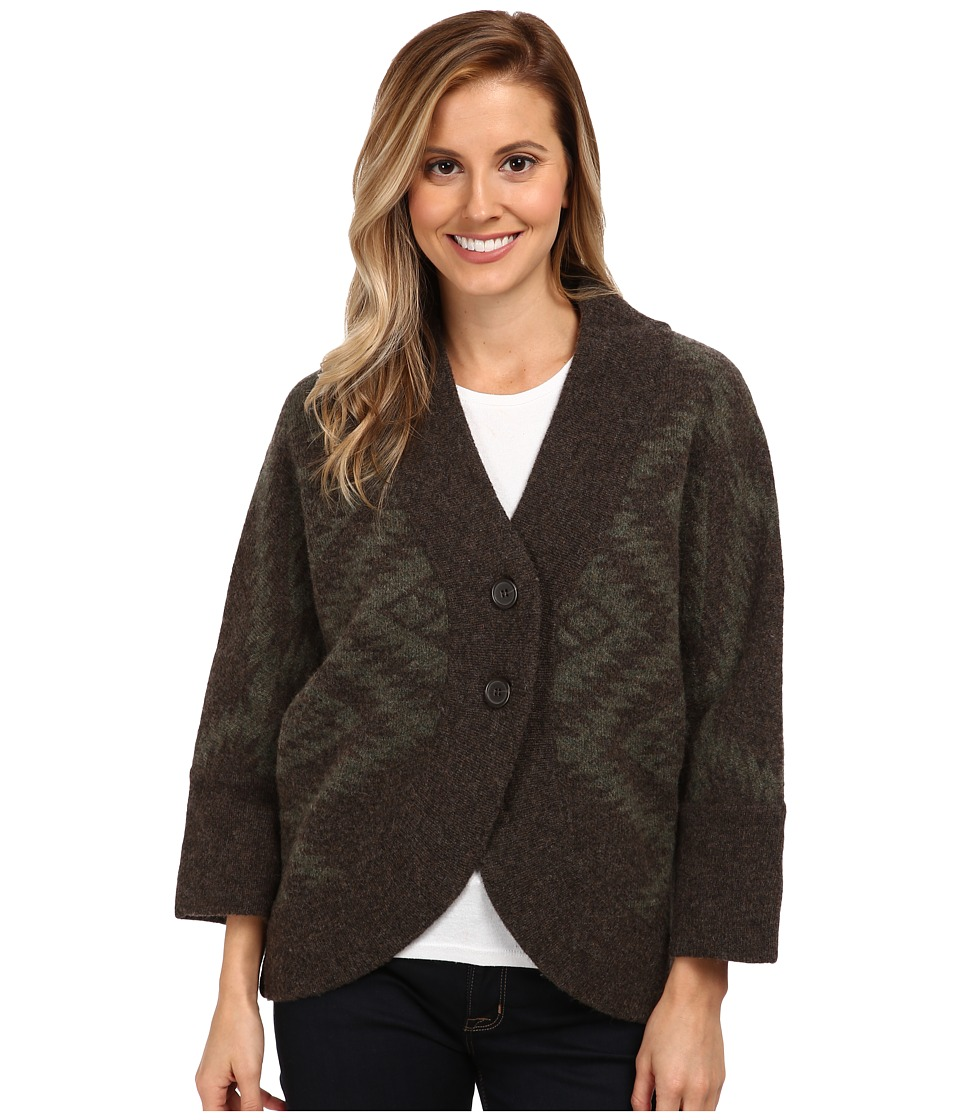 Toad&Co - Merino Shinzo Cardigan (Dark Olive) Women's Sweater