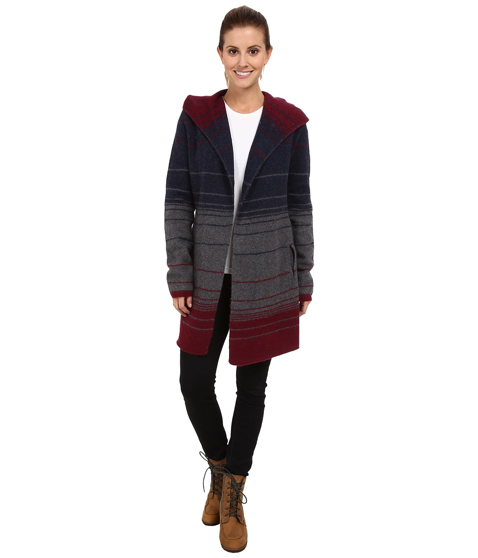 Toad&Co - Merino Heartfelt Hoodie (Port) Women's Sweater