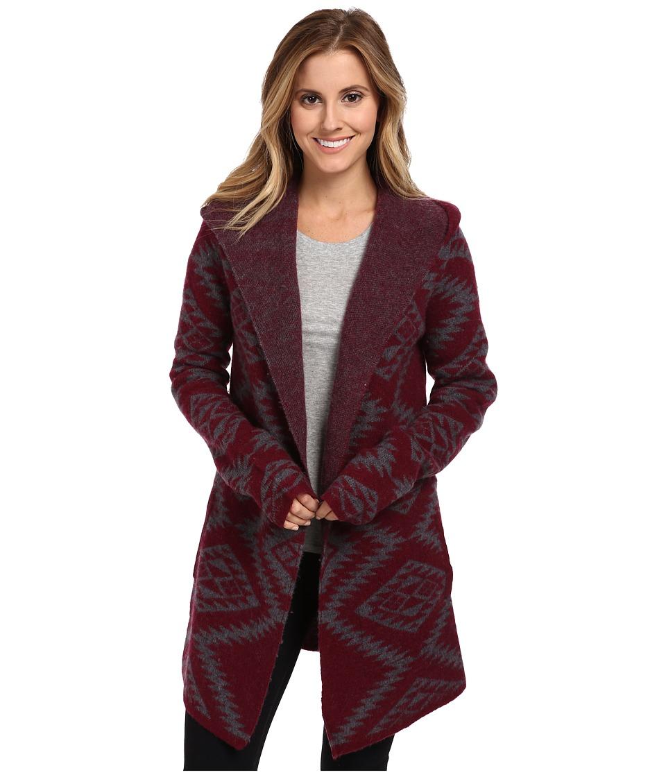 Toad&Co - Merino Diamond Hoodie (Port) Women's Sweater