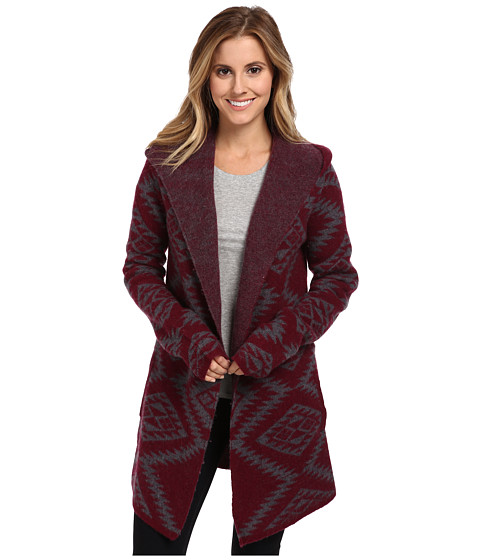 Toad&Co - Merino Diamond Hoodie (Port) Women's Sweater