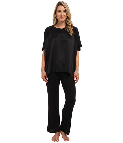Natori - Shangri-La Lounge PJ (Black) Women's Pajama Sets