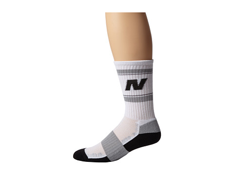 New Balance - Heritage Crew (White/Black) Crew Cut Socks Shoes