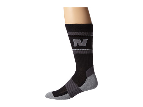 New Balance - Heritage Crew (Black) Crew Cut Socks Shoes