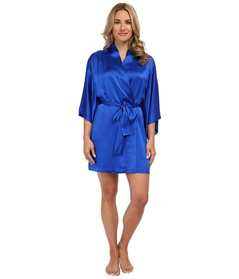 Natori - Key Kimono Wrap (Sapphire Blue) Women's Robe