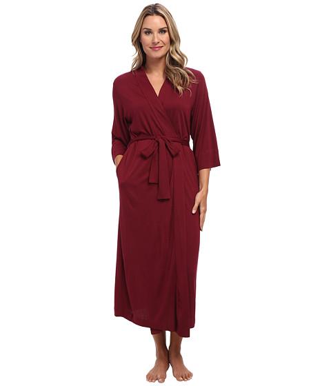 Natori - Shangri-La Robe (Burgundy) Women