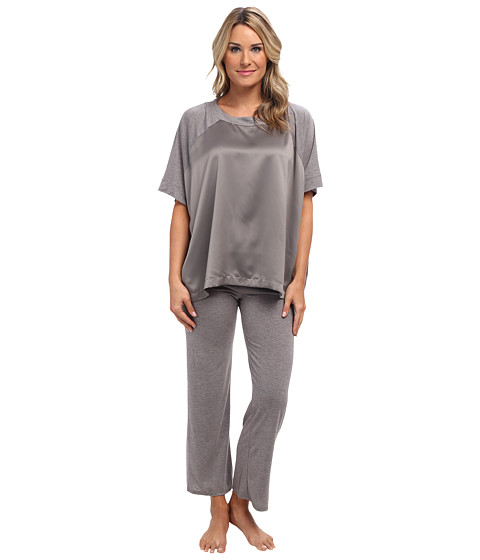 Natori - Shangri-La Lounge PJ (Heather Grey) Women's Pajama Sets
