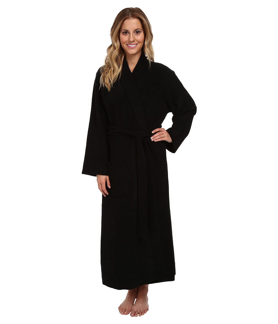 Natori - N by Natori Rib Chenille Robe (Black) Women's Robe