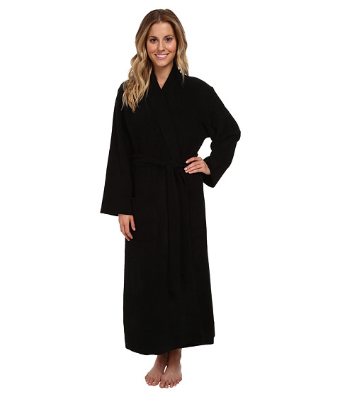 Natori - N by Natori Rib Chenille Robe (Black) Women