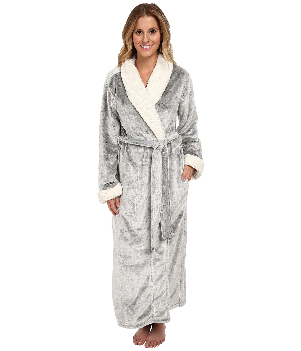 Natori - Sherpa Micro Velour Robe (Black) Women