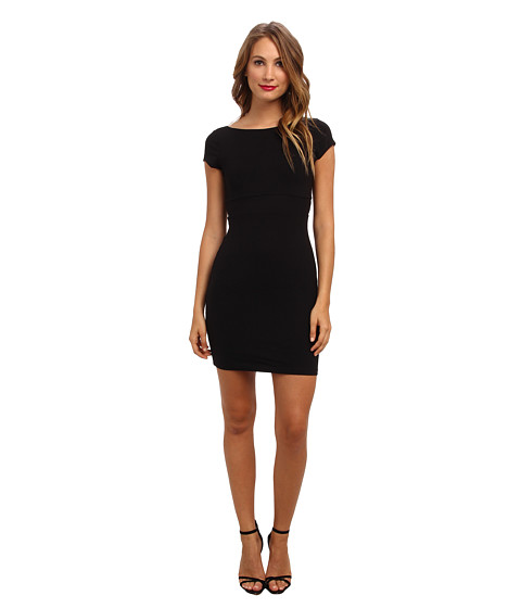Susana Monaco - Scoop Out Back Mini Dress (Black) Women's Dress