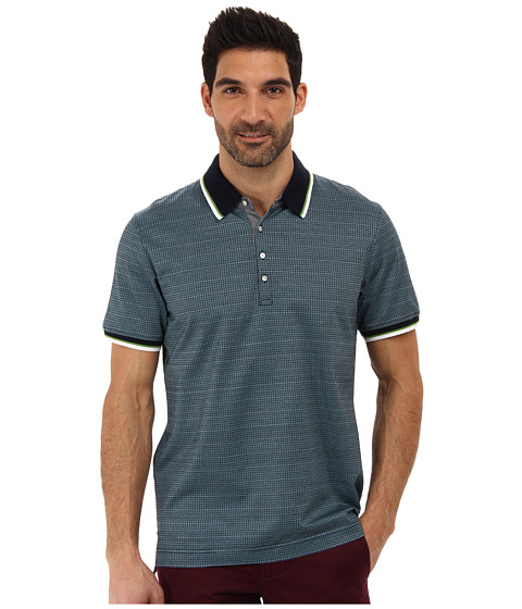Robert Graham - Frederico S/S Patterned Polo (Navy) Men