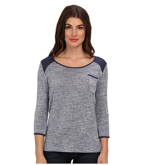 KUT from the Kloth - Letty Round Neck Shirt (Navy) Women's T Shirt