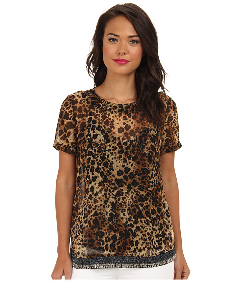 KUT from the Kloth - Leopard Top (Leopard) Women's Blouse
