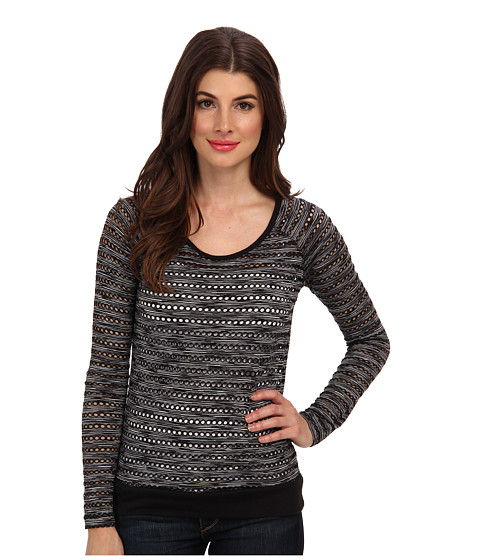 KUT from the Kloth - Liane Crew Neck 3/4 Sleeve Top (Black) Women
