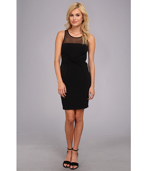 Laundry by Shelli Segal - Jersey Illusion Twist Front Sleeveless Dress (Black) Women