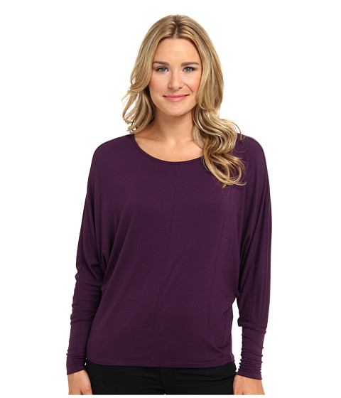 KUT from the Kloth - Gia Boat Neck Top (Purple) Women
