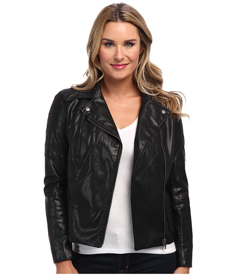 KUT from the Kloth - Moto PU Jacket (Black) Women's Coat