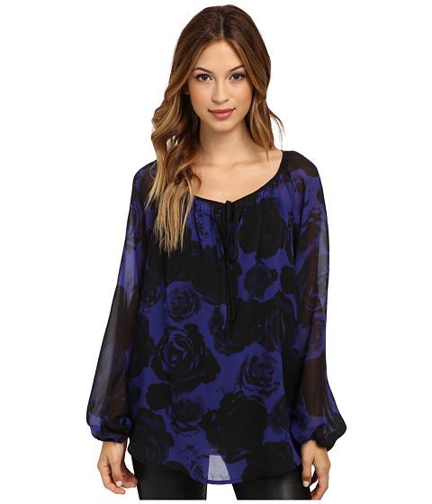 KUT from the Kloth - Brianna Raglan Sleeve Peasant Top (Purple/Black) Women