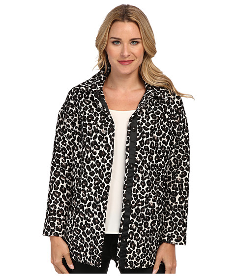 KUT from the Kloth - Francisco Draped Shoulder Shirt (Leopard) Women