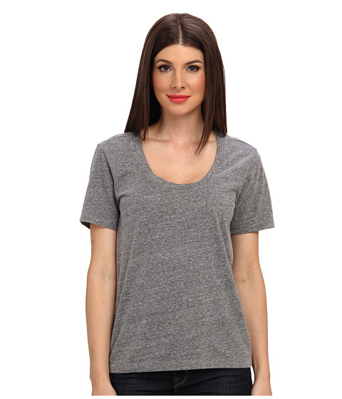 Velvet by Graham & Spencer - Albie02 Heather Knit S/S Tee (Heather Grey) Women's Clothing