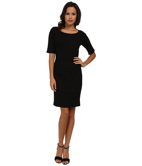 Velvet by Graham & Spencer - Egypt L/S Ponte Dress (Black) Women's Dress