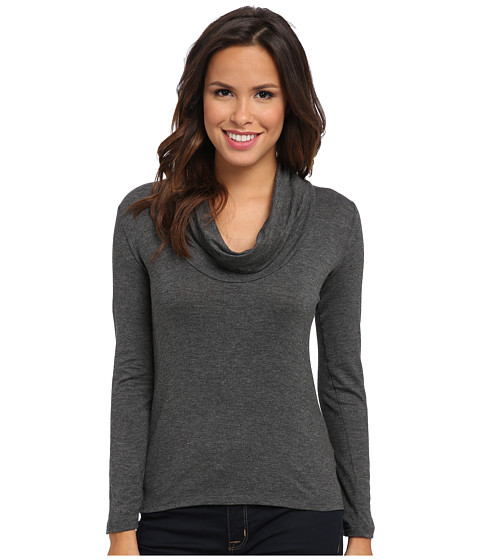 KUT from the Kloth - Sheri L/S Cowel Front Top (Grey) Women